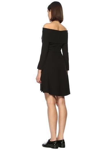 Kayık Yaka Mini Elbise-Theory
